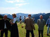 Shadow sculptures exhibition on Lake Tegernsee