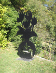 Shadow sculptures in the garden of the Guy Beddington Fine Art Gallery, Bargemon