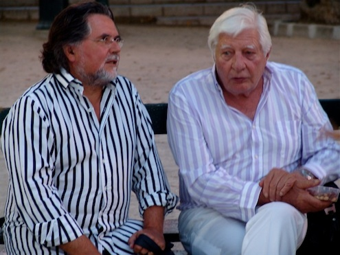 Szczesny with Gunter Sachs in Saint-Tropez