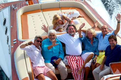 Szczesny, Mario Adorf, Axel Ganz and others in Saint-Tropez