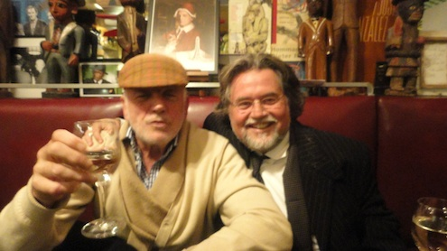 Szczesny with Michel Würthle at Paris Bar, Berlin