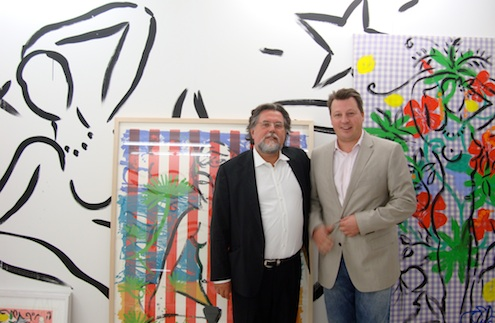 Szczesny with Markus Herbicht at artfair Berlin