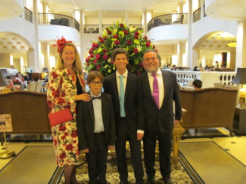 Stefan Szczesny with his family at the Adlon in Berlin
