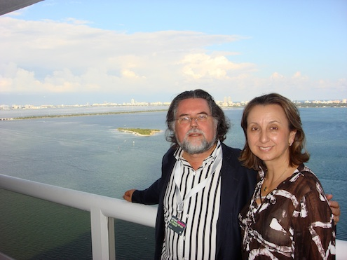 Szczesny with Karolin Troubetzkoy in Miami