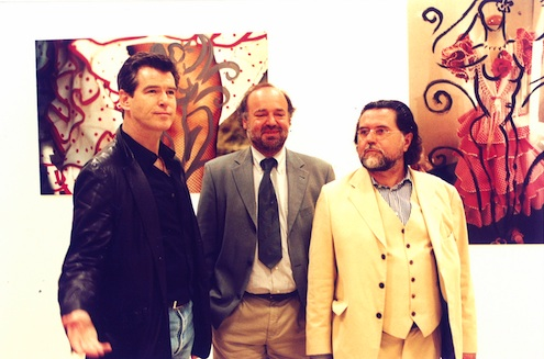 Szczesny with Pierce Brosnan and Curt Faudon, Sevilla